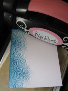 MB - Frostyville Border - Embossing with die using Big Shot
