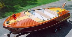 Late 50s Chris Craft Capri. Gorg craft that I would be too scared to ever own for sake of scratching it.