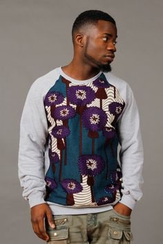 SoTribal Ankara Sweatshirt africains Wax Print par SoTribal
