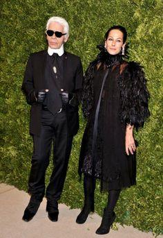 Karl Lagerfeld and Amanda Harlech