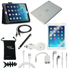 DigitalsOnDemand 11-Item Accessory Bundle for Apple iPad Air 5G 5th Gen - Leather Case, TPU Cover, Screen Protector, USB Cables + Chargers DigitalsOnDemand $31.99 http://www.amazon.com/dp/B00GGBXRDY/ref=cm_sw_r_pi_dp_SphNtb0DVAV1BCYV