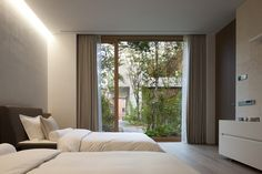 Jeong Jaeheon Decorative Objects, Building Design, House Design, Curtains, Bedroom, Interior, Furniture, Home Decor, Facades