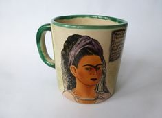 """Angela's Frida Kahlo mug...""""Please look after Frida, she holds so much tea that I can barely get through a cup without a pee!"""""""