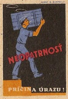 Czech Matchbox Label by Blue Beat1, via Flickr