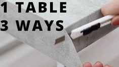 VIDEO - 1 table in 3 ways Forny bordet ditt med trendene ved å bruke kontaktplast⭐️   www.lindasdekor.no  #kontaktplast #selvklebende folie #møbelfolie #mikrosement #betongbord #diy #gjørdetselv #interiør #tips #inspirasjon #hjem #oppussing #gjenbruk #redesign Cards Against Humanity, Table, Upcycle, Design, Home Decor, Homemade Home Decor, Upcycling, Upcycled Crafts, Mesas