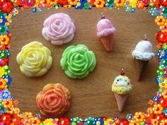 como hacer un cono de nieve y una flor de colores - YouTube