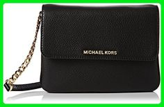 MICHAEL Michael Kors Women's Bedford Cross Body Bag, Black, One Size - Crossbody bags (*Amazon Partner-Link)