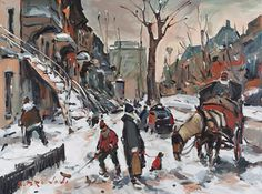Serge Brunoni original acrylic painting on canvas reserved for upcoming book new BOOK available october Canadian Artists, Acrylic Painting Canvas, Winter Scenes, Figurative Art, New Books, Original Paintings, Miniatures, October 19, Fine Art