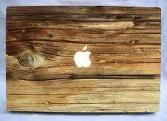 Natural wood vinyl macbook and laptop decal