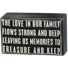 Love in Our Family Plaque ($13) ❤ liked on Polyvore