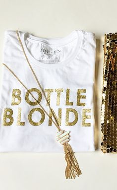 Bottle blonde tee