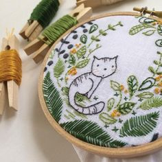 Cinderberry Purrrfect Embroidery Pattern