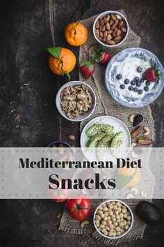 Ready to embrace the world's healthiest diet, The Mediterranean Diet? Check out our easy Mediterranean diet overview and grab our list of BEST Mediterranean diet snacks. Trust me, this feels like anything but a diet, and you'll love all the tasty options! Mediterranean Diet Recipes, Mediterranean Dishes, Mediterranean Diet Breakfast, Healthy Snacks, Healthy Eating, Healthy Recipes, Delicious Recipes, Tasty, Quick Snacks