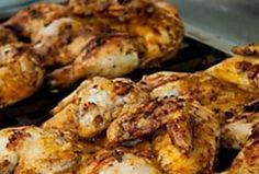 All about marinating meats for the braai/barbecue and marinades for Chicken. South African Heritage Day / National Braai day / Braai for Heritage. Indian Chicken Marinade, Chicken Marinades, Chicken Recipes, Chicken Sauce, Braai Recipes, Oxtail Recipes, Butterflied Chicken, Peppermint Crisp, Easy Weekday Meals