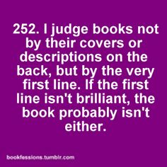 Pretty much.  If I can't get into a book within the first 5 pages, I won't be able to get into it at all.