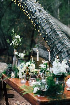 Woodland #wedding #decor and #tablesetting captured by Anika London