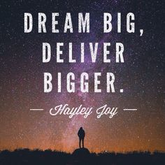 Hayley Joy words of wisdom The Real World, Real Women, Dream Big, Wise Words, Wisdom, Joy, Quotes, Quotations, Glee