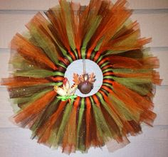 Tulle Thanksgiving Wreath by Creativecraftingmoms on Etsy, $35.00