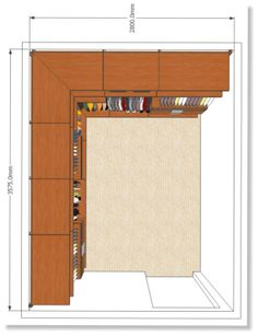 Walk In Closet With Storage On One Wall. Comfort Size. Click Through To The  Website For More On Home Design.   Walk In Closet Designs   Pinterest    Storage, ...
