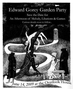 "Edward Gorey Garden Party ""Save the Date"" invite - Pretty creative."