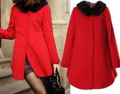 Women's Elegant Cape Winter Coat Plus Size by dresstore2000, $68.89