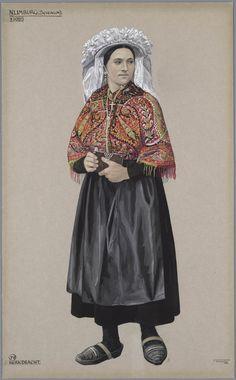 Sevenum, ca. 1920. Kerkdracht kunstenaar: Duyvetter, Jan #Limburg