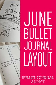 Bullet Journal Spreads For Moving - Bullet Journal Monthly Layout And Cover For Pittsburgh - Bullet Journal Setup and Layout For June #bulletjournal #bujo #bujolove #bujocollections #bulletjournalcollections #collections #monthlysetup #bujomonthly #bujodaily #bujomonth #junecoverpage #coverpage #bujocoverpage