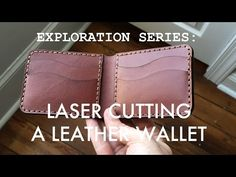 A new video from our Exploration Series. Designing and laser cutting a leather wallet. I will show you how I convert my leather wallet template into a wallet that can be laser cut with the stitching holes.
