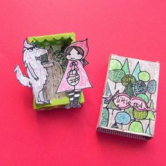 small world land: 'Little Red' Matchbox Paper Dolls