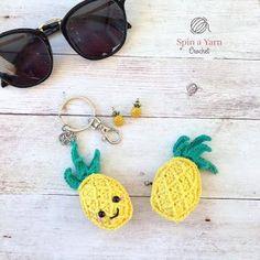 Häkelblog - Täglich neue Anleitungen: Ananas Schlüsselanhänger - Häkelanleitung