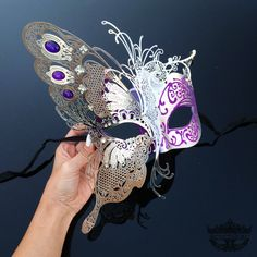 Masquerade Mask, Elegant Butterfly Mask, Masquerade Ball Mask, Mardi Gras Masks, Masquerade Ball Mask [Magenta/Purple/Silver] by 4everstore on Etsy https://www.etsy.com/listing/217630474/masquerade-mask-elegant-butterfly-mask
