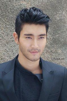 "Siwon- Korean Actor- bilingual in Korean & English. Was so cute in ""She Was Pretty"" a K drama"