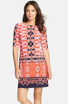 Eliza J Print Jersey Shift Dress (Regular & Petite) available at #Nordstrom