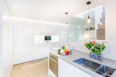 Modern Kitchen fitted with Oak Wood Flooring