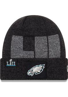 New Era Philadelphia Eagles Grey 2018 SB LII Cuff Mens Knit Hat 5a0349c8a