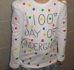 100 days of school shirts