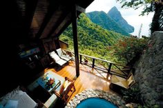 Beautiful view Ladera Resort, St. Lucia