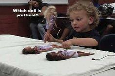 https://www.youtube.com/watch?v=YOHbtM9463c Barbie Doll Experiment