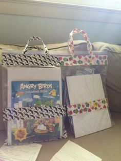 A ziplock bag plus your favorite duct tape!  (rainy day bags for Mary Saunder's kids) but I can think of many things...