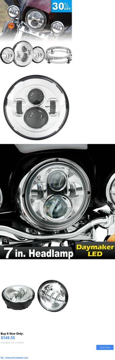 motorcycle parts: 7 Chrome Daymaker Projector Headlight Passing Lights For Harley Softail Custom BUY IT NOW ONLY: $149.55 #priceabatemotorcycleparts OR #priceabate