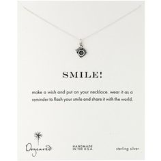 Dogeared Sterling Silver Camera Smile Necklace