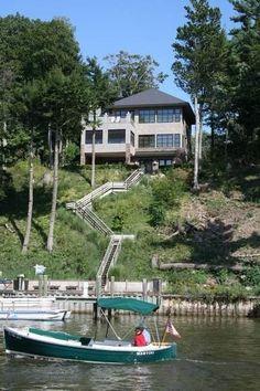 House rental in Saugatuck, MIchigan. Modern Lake House from VRBO.com