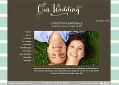 Free Wedding Website Builder with Your Design Choice – TheKnot.com | LFF Designs | www.facebook.com/LFFdesigns