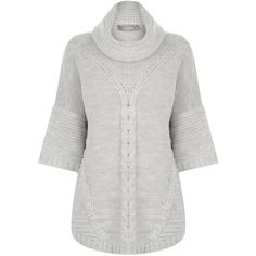 Oasis Trapeze Cow Neck Jumper , Mid Grey (65 AUD) ❤ liked on Polyvore featuring tops, sweaters, mid grey, jumper top, grey top, cowl neck jumper, cowl neck sweater and cowlneck sweater