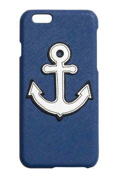 Capa para iPhone 6/6s - Azul escuro/Âncora - SENHORA | H&M PT 1