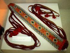 Seminole or Muscogee beaded sash, ca. 1870s, Oklahoma, from the collection of the Oklahoma History Center, OKC OK
