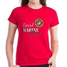 Proud Marine Mom t-shirt for that USMC Mother  #USMC #bootcamp #MarineMom #USMarines #MarineCorps #SemperFi #OORAH #Crucible