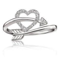 Heart Arrow Diamond Ring In Sterling Silver Ruby Rings Promise