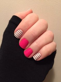 Country Club with Haute Pink. Jamberry Nails
