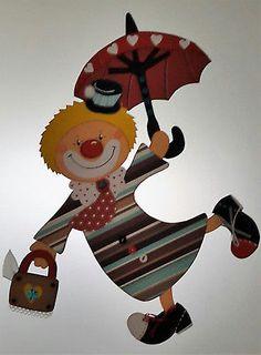 Fensterbild Fliegender Clown - Fasching- Karneval-Dekoration - Tonkarton!